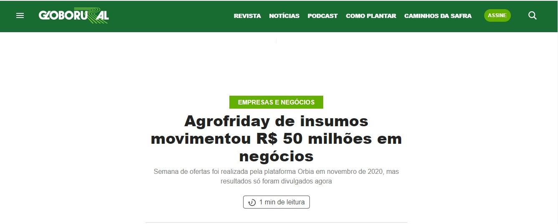 Orbia é destaque em Globo Rural