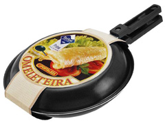 Omeleteira Fortaleza Preta 26 cm