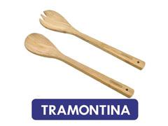 Conjunto Utensílios para Servir Tramontina Bamboo 2 peças