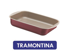 Assadeira Funda Tramontina em Aluminio Vermelha 28 cm
