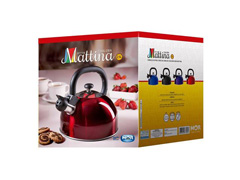 Chaleira MOR Mattina Mista Inox Vermelho 2,5 Litros - 2
