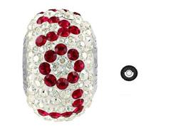 Becharmed Pavé decorado com cristal da Swarovski® Love vermelho escuro