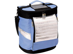 Bolsa Térmica Ice Cooler Dobrável MOR Azul com Alças 18 Litros
