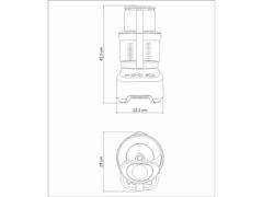 Multiprocessador de Alimentos Tramontina by Breville Alumínio 110V - 6