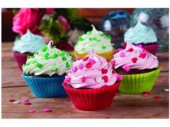 Kit 12 Formas de Silicone MOR para Cupcake e Muffin Coloridas - 1