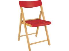 Cadeira Tramontina Potenza Madeira Tauari Tabaco com Vermelho