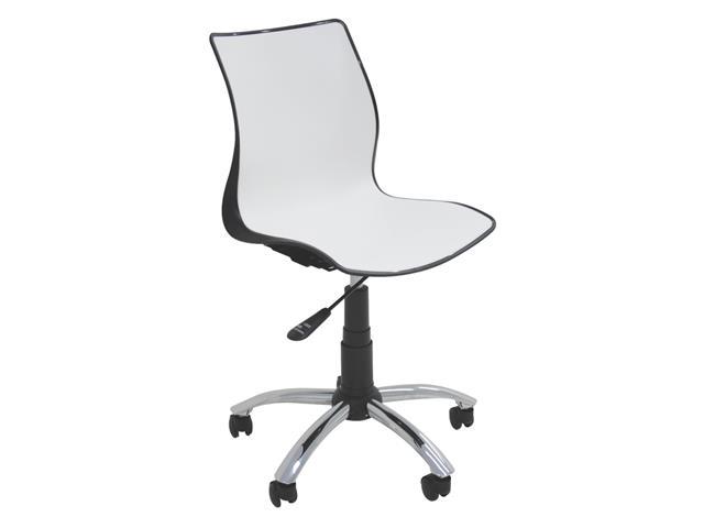 Cadeira Tramontina Rodizio Maja Branca/ Preto