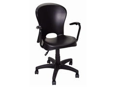 Cadeira com Braço e Rodizio Tramontina Jolie Preta