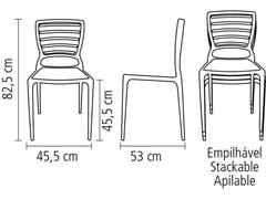 Cadeira Tramontina Sofia Encosto Vazado Horizontal Branca - 8