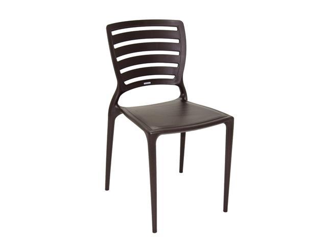 Cadeira Tramontina Sofia Encosto Vazado Horizontal Marrom