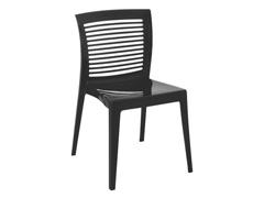 Cadeira Tramontina Victoria Encosto Vazado Horizontal Preta