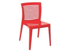 Cadeira Tramontina Victoria Encosto Vazado Horizontal Vermelha