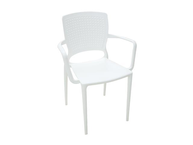 Cadeira/ Poltrona com Braço Tramontina Safira Branca