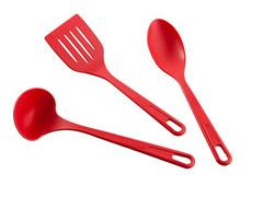 Conjunto de Utensilios Brinox Nylon 3 Peças Vermelho