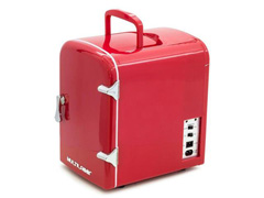 Mini Geladeira Multilaser Retrô 4L Vermelha Trivolt - 12v/110v/220v - 1