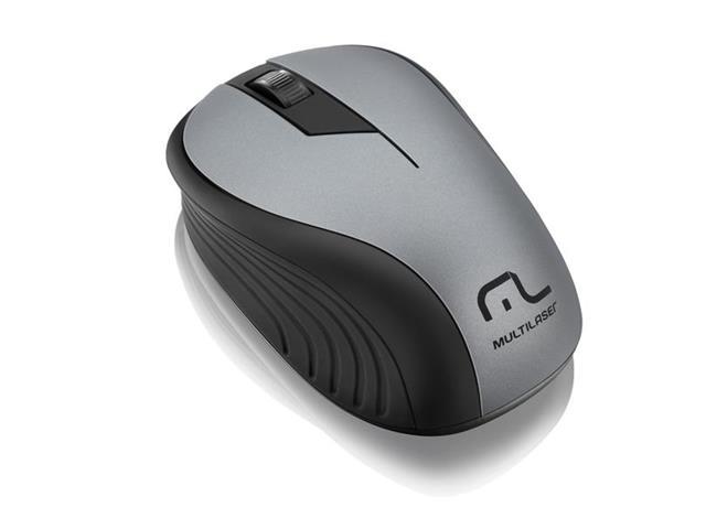 Mouse sem fio Multilaser 2.4ghz preto grafite USB