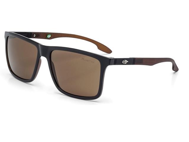 Óculos de Sol Mormaii Kona Preto Parede Marrom Bril com Marrom Fosco