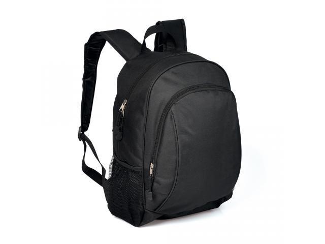 Mochila preta em polyester c/ compartimento para Notebook - Welf