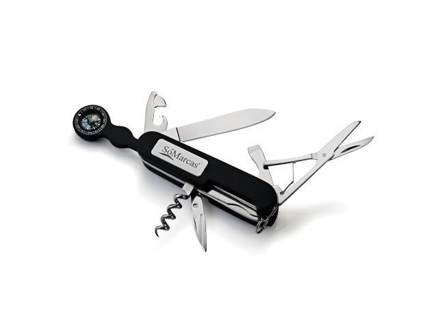 Canivete emborrachado preto 8 funções