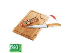 Conjunto churrasco Welf em bambu/inox Dallas 2 pçs