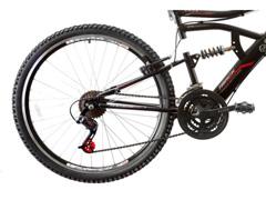 Bicicleta Aro 26 Track Bikes MTB Downhill Boxxer Full 21 V Preto - 1