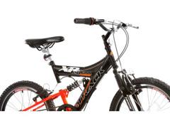 Bicicleta Aro 20 Juvenil Track Bikes XR 20 Full 6 V Preto/ Laranja - 3