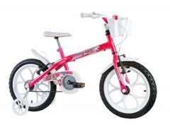 Bicicleta Aro 16 Infantil com Cesta Track Bikes Monny Pink Neon - 0