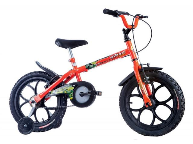 Bicicleta Aro 16 Infantil Track Bikes Dino Neon Laranja