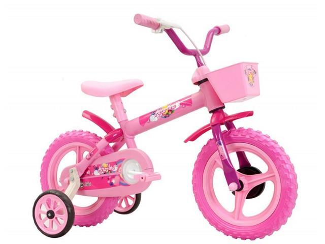 Bicicleta Aro 12 Infantil Track Bikes Arco-Iris Rosa
