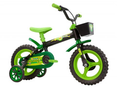 Bicicleta Aro 12 Infantil Track Bikes Arco-Iris Preto/ Verde - 0