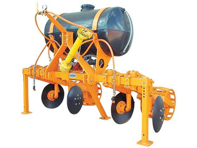 Cobridor de 2 linhas com aplicador de inseticida (Bomba de Pistão) DMB