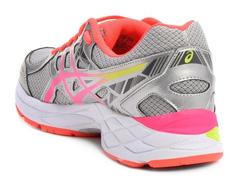 Tênis Asics Gel Exalt 3 A Silver/Pink Glow/Flash Coral Fem - 2
