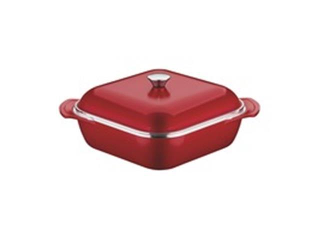 Caçarola Quadrada Tramontina Design Collection Vermelha 28 cm