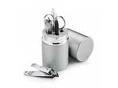Kit Manicure Em Aço/alumínio - 5 Pçs