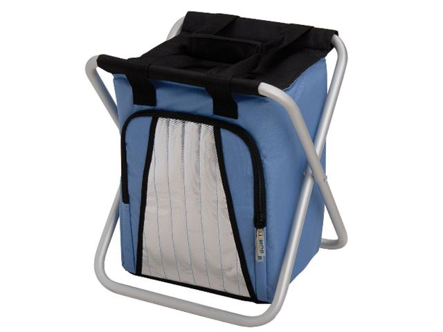 Banqueta MOR Ice Cooler Azul Dobrável 25 Litros