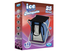 Banqueta MOR Ice Cooler Azul Dobrável 25 Litros - 3