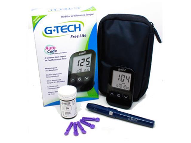 Kit Medidor De Glicose G-Tech TTFL100KT + 100 Tiras de Teste