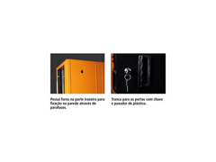Painel para ferramentas grande 2 portas Canto L Tramontina PRO - 3