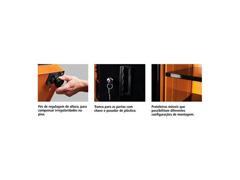 Armário vertical para ferramentas 2 portas com visores Tramontina PRO - 2