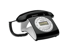 Telefone com Fio Intelbras Retrô Preto - 1