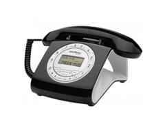 Telefone com Fio Intelbras Retrô Preto