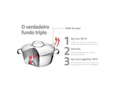 Jogo de Panelas Tramontina Multi Cooker Allegra 3 Peças - 1