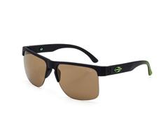Óculos De Sol Mormaii Monterey Fly Preto Fosco Com Verde Fluor