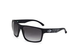 Óculos De Sol Mormaii Carmel Preto Fosco C/ Branco Rajado Extermo - 0
