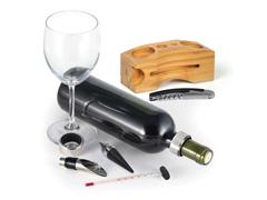 Acessórios Para Vinho Com Base Em Bambu 6Pçs - 3