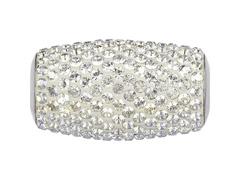 BeCharmed Alongado decorado com cristais da Swarovski® Branco - 1