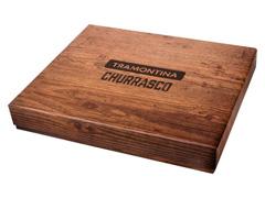 Kit de Churrasco Tramontina Inox Polywood Castanho 15 Peças - 1