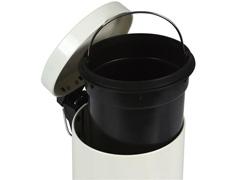 Kit Banheiro MOR Àgata Bege Escova Sanitária e Lixeira 3 Litros - 3
