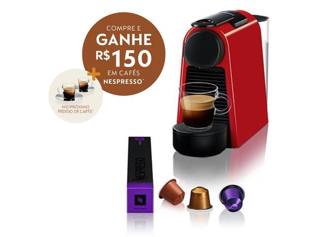 Cafeteira Nespresso Automática Essenza Kit Boas Vindas Mini Red