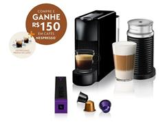 Kit Nespresso Essenza Mini Black + Aeroccino3 com Kit Boas Vindas